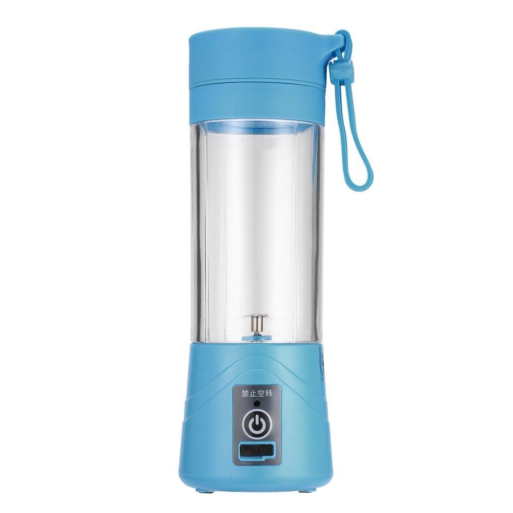 Mengonee 380ml USB ricaricabile Juicer Bottiglia di tazza di Citrus Blender frullatore di frullatore Smoothie Squeezer (Blu)