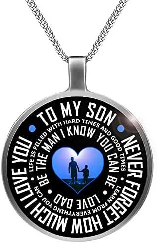 Father Son Necklace To My Son Never Forget How Much I Love You Necklace