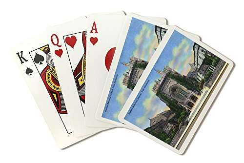 New Haven, Connecticut - Yale University Sterling Memorial Library Exterior View (Playing Card Deck - 52 Card Poker Size with Jokers)