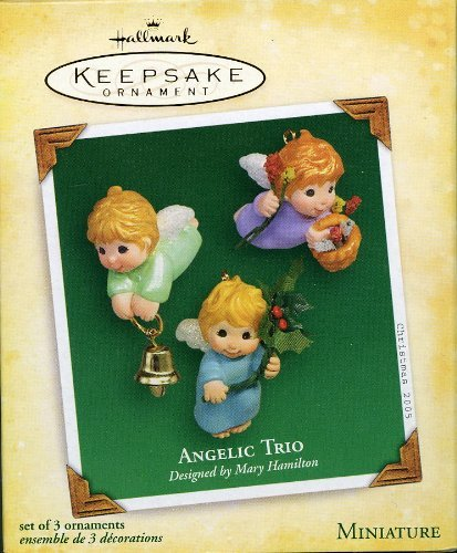 Hallmark Keepsake Miniature Ornament Angelic Trio Designed by Mary Hamilton 2005
