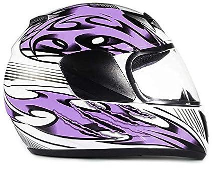 White Pink Butterfly Typhoon Youth Full Face Motorcycle Helmet Kids DOT Street XL