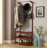 yaker's collection Wood Entryway Hall Tree Coat