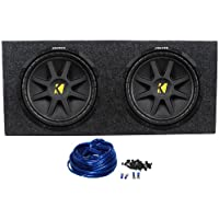 2) KICKER 10C12D4 12 800W Dual 4-Ohm Comp Car Audio Subwoofers Subs+Sealed Box