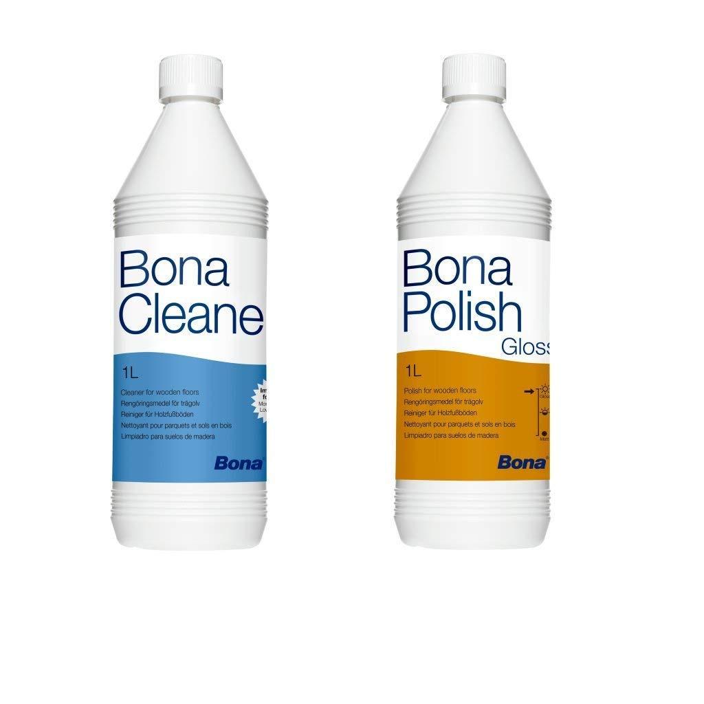Lucido Bona Polish 1l + Cleaner Bona 1l Parkettpflege-impostato