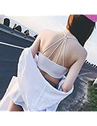 2 Pieces Fashion Detachable Cross Sexy Back Underwear Wrapped Chest Tube Tops Shoulder Straps Cotton Belt Chest Pad Brassiere Bandeau (Color : White, Size : One Size)