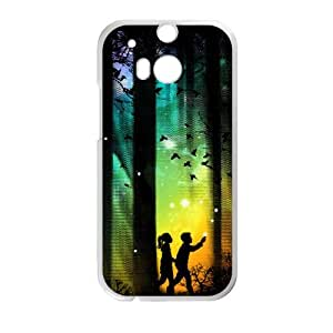 HTC One M8 Cell Phone Case White Born to Run Lklgl