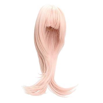 Gazechimp Juguete Peluca de Cabello Rizado para 1/3 SD BJD Barbie Dolls para Fabricación