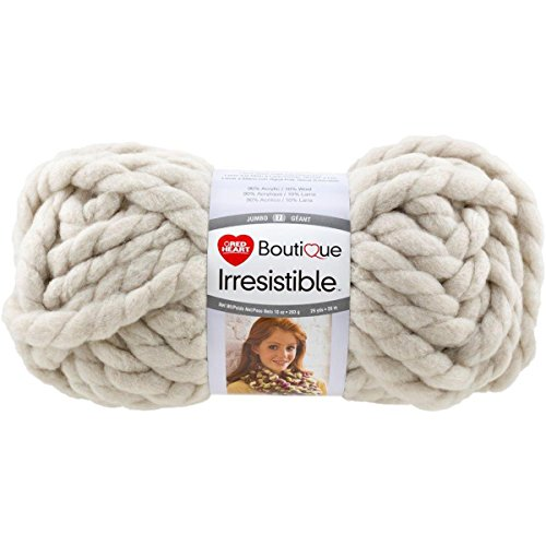 Red Heart Yarn Red Heart Irresistible Yarn Oatmeal, Oatmeal (E848.7305) (Best Yarn For Arm Knitting Infinity Scarf)