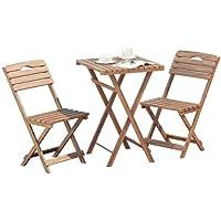Minder hediyeli Balkon - Bahçe - Mutfak 3'lü Bistro Set Katlanır 2 Sandalye 1 Masa