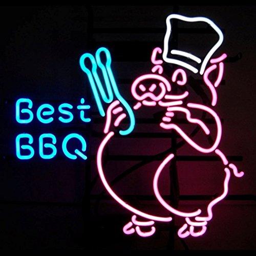 BBQ Barbacoa Food Neon 61?X 50,8?Cm pulgadas Bright Neon ...