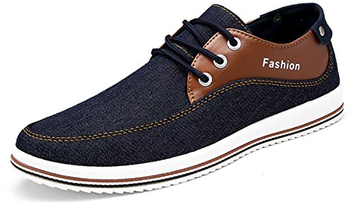 separation shoes 4cc87 47dc1 Weweya Mens Sneakers Aiden Casual Shoes Canvas Lace-Up Shoe Fashion Walking  Shoes