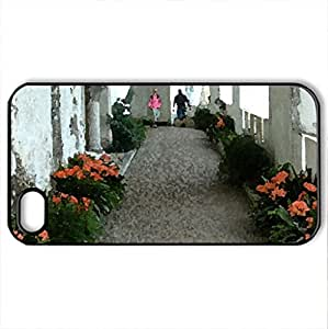walkway - Case Cover for iPhone 4 and 4s (Houses Series, Watercolor style, Black)