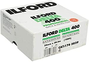 Ilford Delta 400 Professional Black and White Negative Film (35mm Roll Film, 100' Roll)