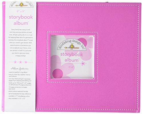 Doodlebug Design Storybook for Scrapbooking Album, 8 by 8-Inch, - Doodlebug Gum Bubble