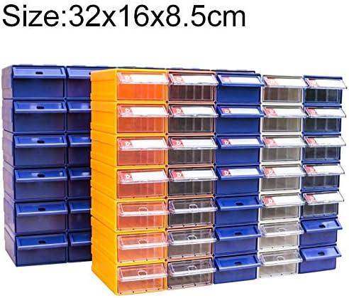 LIJIAN サイジング:32 cm x 16 cm x 8.5 cm、ランダムカラー配達、名高い組み合わせプラスチック部品キャビネット引き出しタイプコンポーネントボックスビルディングブロックコーポレートボックスハードウェアボックス