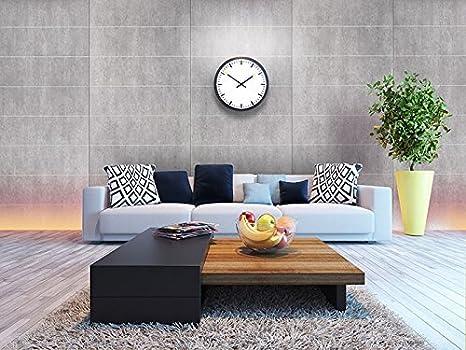 Revestimiento mural aspecto cemento WallFace 19103 CEMENT LIGHT 8L hormigón piedra atractivo decoración panel de pared adhesivo gris claro gris 2,60 m2: ...