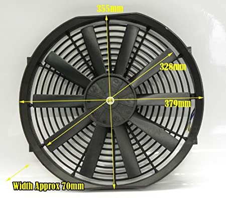 8 Inch With Fitting Kit Universal Slim Electric Radiator Fan 8 9 10 12 14 Inch Push or Pull Air