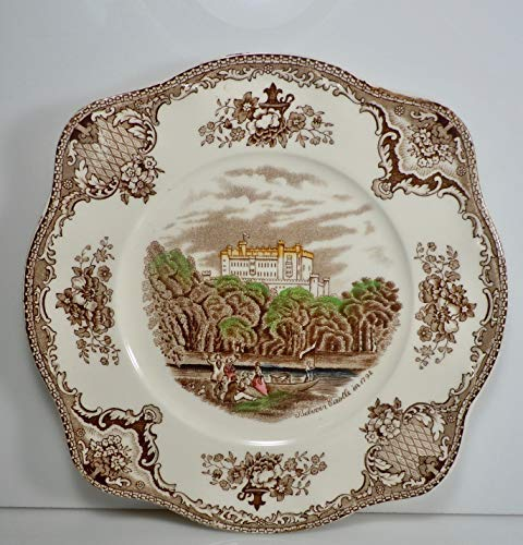 Johnson Brothers Old Britain Castles Brown Multicolor Square Salad Plate 7 5/8