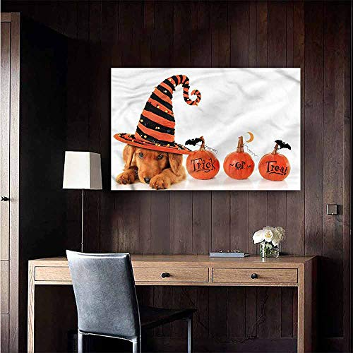 Gabriesl Wall Mural Wallpaper Stickers Halloween Puppy Wearing