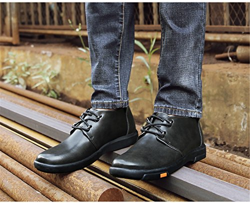 RAINSTAR Mens Lace Up Chukka Boot Classic Working Shoe Velvet Lining Available Grey 9jLAPBpBk