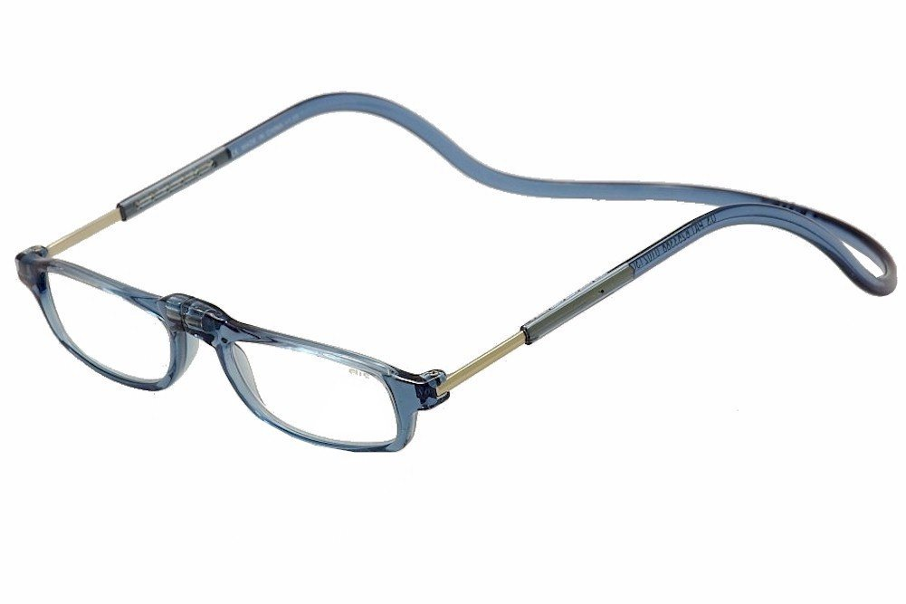 0d91aa5115c Amazon.com  Clic Reader Eyeglasses City Light Blue Full Rim Magnetic  Reading Glasses +1.50  Health   Personal Care