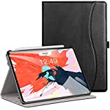 Ztotop Case for iPad Pro 11 Inch 2018 Release - Premium Leather Slim Multiple Viewing Angles Folding Stand Folio Cover with Auto Wake Sleep (Support 2nd Gen ipad Pencil Wireless Charging) - Black