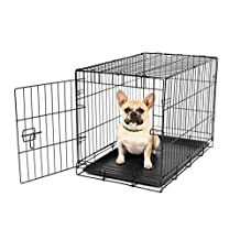 Carlson Pet Products Compact and Secure Single Door Metal Dog Crate, Small