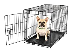 Carlson Pet Products Secure & Foldable Single Door Metal Dog Crate, Small