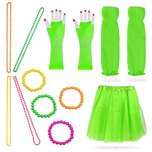 Beelittle Women's 80s Fancy Outfit Costume Accessories Set (13-Fruit -