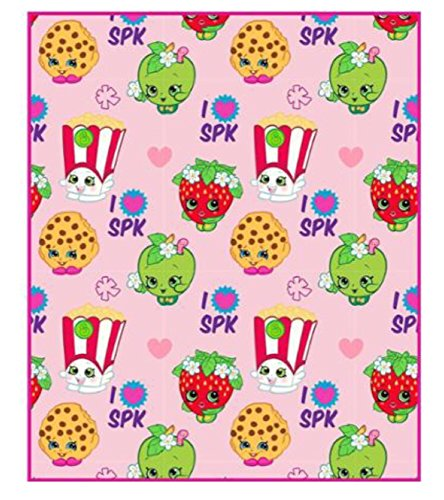 Shopkins Microfiber Plush Character Throw Blanket - Kids