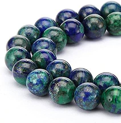 6MM  CHRYSOCOLLA GEMSTONE ROUND LOOSE BEADS 15.5/""
