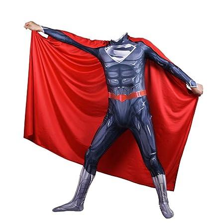 KYOKIM Superman Ropa NiñO Adulto Vestido Superhéroe Baile Traje ...