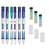 Paper Mate Clearpoint Mechanical Pencil, 0.7 mm, Barrel Color May vary, Pack of 6 Pencils, 3 Lead Refills and 6 Eraser Refills