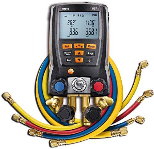 - Testo 557 Hoses - Digital Manifold Kit with Bluetooth and Set of 4 Hoses