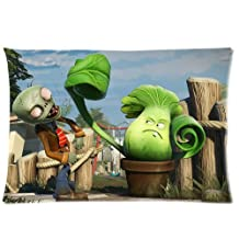 Custom Rectangle Pillowcase Covers Plants vs. Zombies Garden Warfare Printed Standard Size 20 by 30 Inch BPCAESE-854