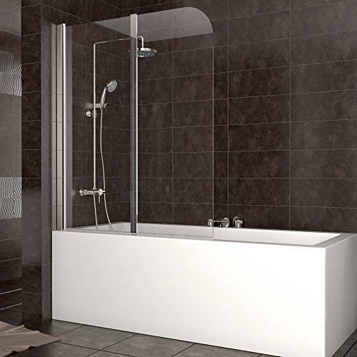 Duschabtrennung Badewanne Duschwand Badewannenfaltwand Glas Dusche DIN links