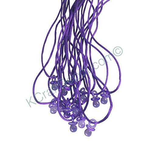 Plastic Purple Necklace - 24 Pcs 3/4