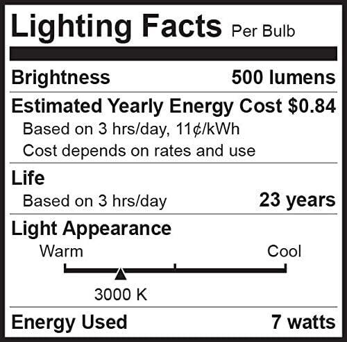 PAR20 LED Bulb 75W Replacement, Bioluz LED Spot Light Bulb, 3000K Soft White, E26, 40 Degree Beam Angle, UL Listed, 4 Pack