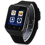 Los Telefonos Inteligentes Best Deals - 3G Android 4.4 Reloj Inteligente Teléfono Smart Watch Phone MTK6572 con 1.54 pulgadas Pantalla Táctil