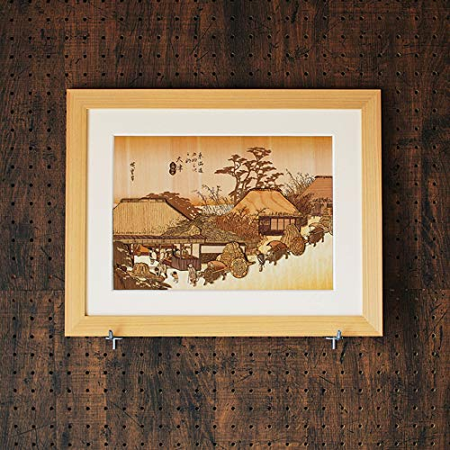KINOWA Ukiyoe Art Kit Kiharie The Running Well Teahouse at Otsu by Hiroshige Made in Japan by KINOWA (Image #5)