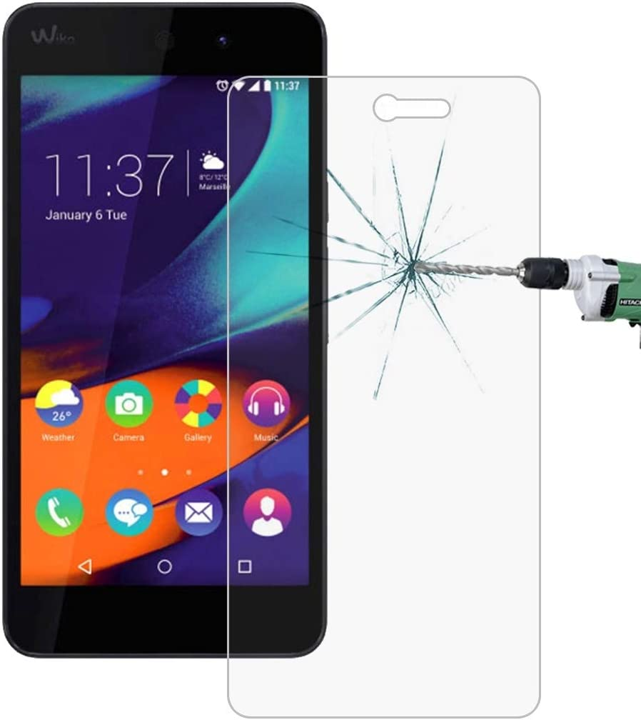 No Retail Package Tempered Glass Film XHC Screen Protector Film 50 PCS for Wiko Rainbow UP 0.26mm 9H Surface Hardness 2.5D Explosion-Proof Tempered Glass Film