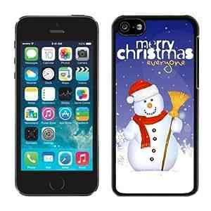 Custom-ized Design Iphone 5C TPU Case Christmas Snowman Black iPhone 5C Case 16