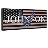 Hero Air Force Logo Flag CANVAS Wall Art Home Décor