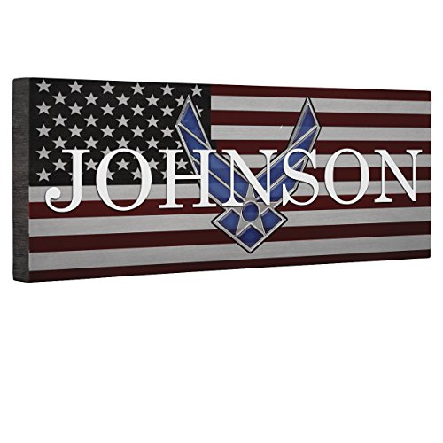 Hero Air Force Logo Flag CANVAS Wall Art Home Décor by Paper Blast