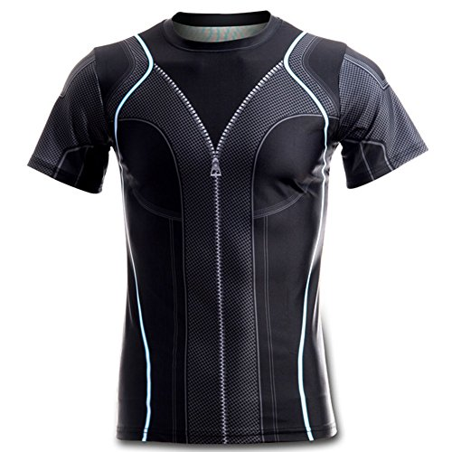 Super Hero Costume Widow Compression T-Shirt Tight Cycling Clothes Sport T-Shirt (L, Widow Womens Size) ()