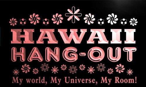pq2011-r Hawaii Hang Out Girl Kid's Princess Room Neon Light Sign by AdvPro Name
