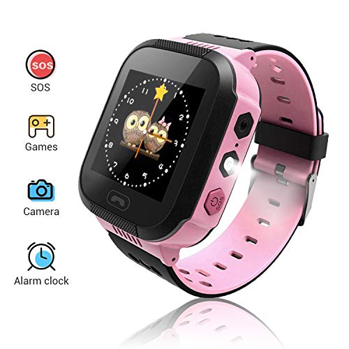Benobby Smart Watches for Kids, Multiple Functions Like Positioning/SOS Emergency Alarm/Voice Messages/Illumination/, Boys Fun Watches Ideal Birthday Presents(Pink)