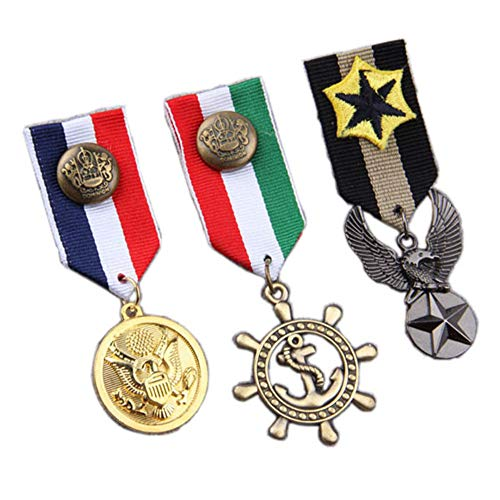 Women Men's Navy Badge Military Hero Medals Blazer Suit Brooch Pin 3pcs / - Medal Military Navy