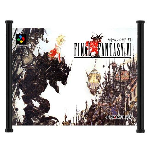 Final Fantasy Iii/final Fantasy VI Game Fabric Wall Scroll Poster