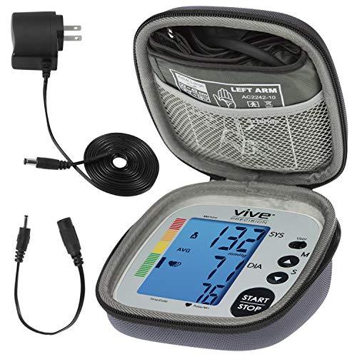 (Vive Precision Blood Pressure Machine - Heart Rate Monitor - Automatic BPM Sphygmomanometer Heartbeat Measurements for Hypertension Diagnosis, Accurate Pulse Readings (Silver, Deluxe Model))